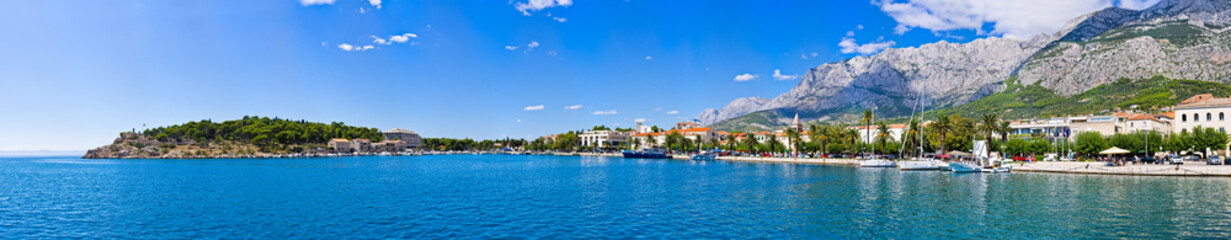 Panorama of Makarska, Croatia