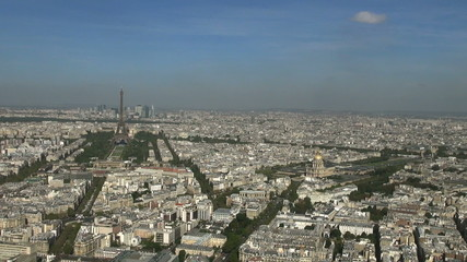 Some scenes of daily Paris, panoramic view from the top