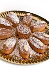 flower cake with almonds