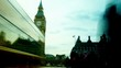 Rush hour in London, Big Ben, view to the Westminster Bridge
