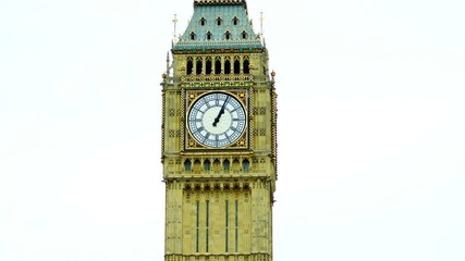 View of Big Ben clock,time lapse