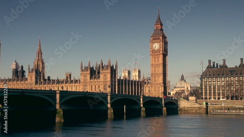 Big Ben clock tower and the Houses of Parliament in the morning