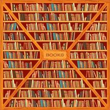 Grande bibliothèque avec des livres différents