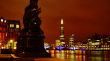 London, view to the Shard in night