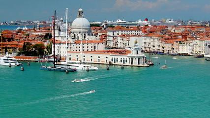 Venice city in Italy, Santa Maria della Salute, time lapse