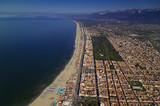 Italy, Tuscany, Viareggio, aerial view of the city