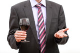 Gentleman holding a glass of wine.