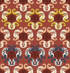 seamless chinese auspicious clouds pattern