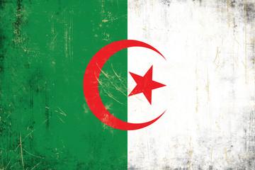 Grunge Algerian flag