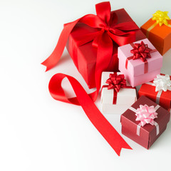 Multi colour gift boxes