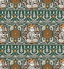 seamless islamic traditional pattern