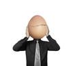 businessman holding  egg in hands