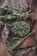 Herbs: rosemary, vertical shot