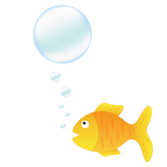 Talking fish with bubbles for your text