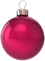 Christmas ball New Year bauble decoration red sphere