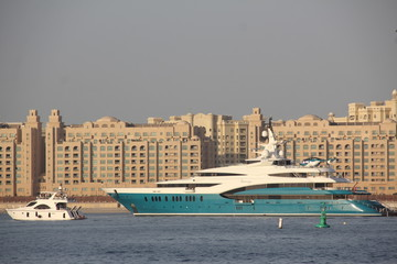 luxury yacht in Dubai