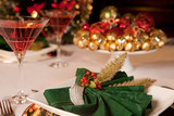 Christmas green napkins 2