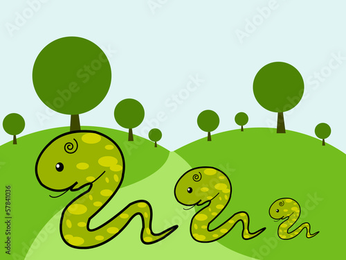 Illustration of cute Snake