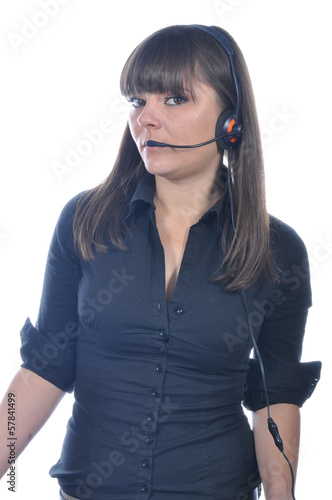 Dispatcher on duty. White background