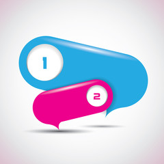 Speech bubbles - pink and blue colors