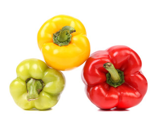 Colourful ripe peppers.