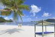 lit de plage aux Seychelles