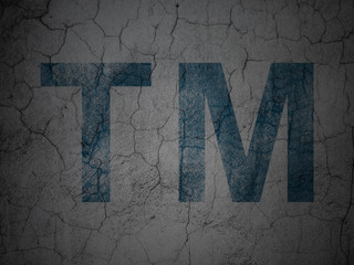 Law concept: Trademark on grunge wall background