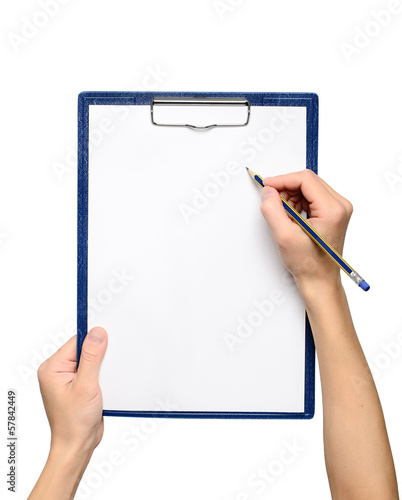 Writing on clipboard