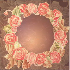 romantic wreath with roses