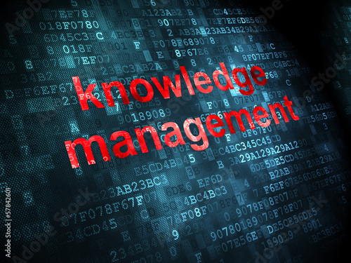 Education concept: Knowledge Management on digital background