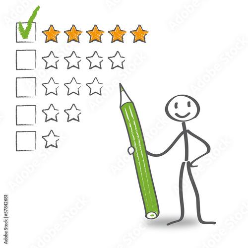 Bewertung, Sterne