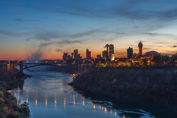 Niagara Falls in evening
