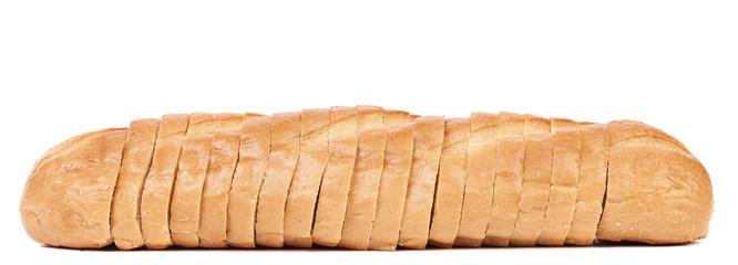 Sliced loaf of white bread
