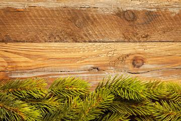 Weihnachtlicher Hintergrund mit Tannenzweigen