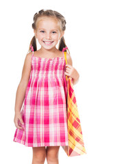 cute little girl with shopping bag