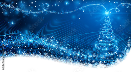 Fototapeta Magic Christmas tree