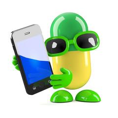 Pill has a smartphone