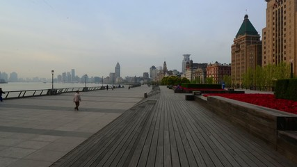 The morning of the Shanghai Bund,China