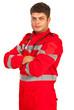Confident paramedic man
