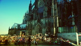 Germany Cologne Cathedral,time lapse