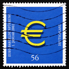Postage stamp Germany 2002 Introduction of the Euro, Jan. 1