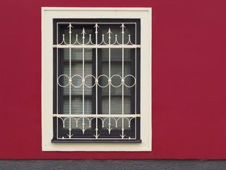 Frisch gestrichene Hausfassade