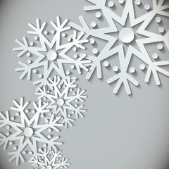 New Year snowflakes  background