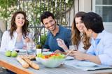 Group Of Friends Having Dinner