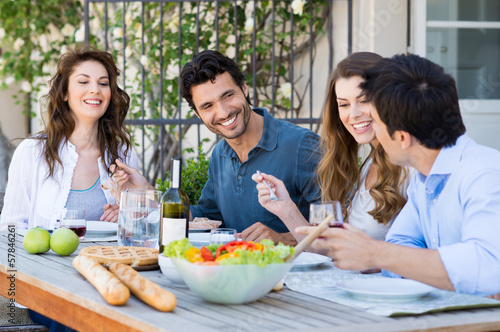 Group Of Friends Having Dinner