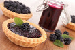 blackberry pastry and jam