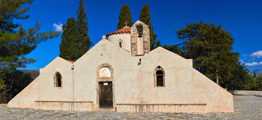 Byzantine Church Panagia Kera in Kritsa, Crete, Greece.