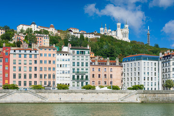 Lyon in a sunny summer day