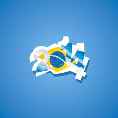 Argentina in Brazil 2014 vector