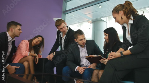 business meeting of young attractive people.